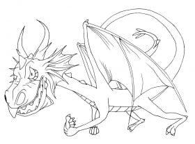 Flying dragon outline