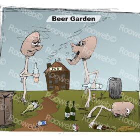 Beer Garden cartoon