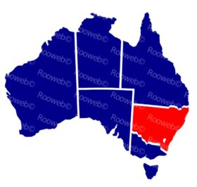 Responsive Vector Map of Australia
